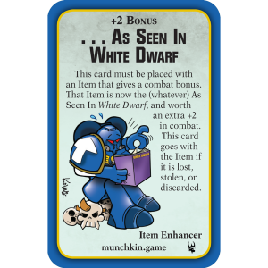 As Seen In White Dwarf Munchkin Warhammer 40,000 Promo Card cover