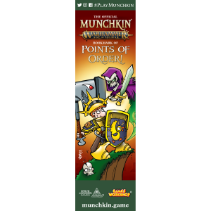 The Official Munchkin Warhammer Age of Sigmar Bookmark of Points of Order! cover
