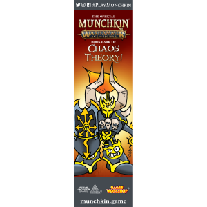 The Official Munchkin Warhammer Age of Sigmar Bookmark of Chaos Theory! cover
