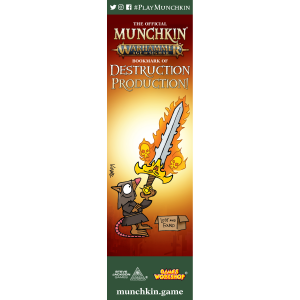 The Official Munchkin Warhammer Age of Sigmar Bookmark of Destruction Production! cover
