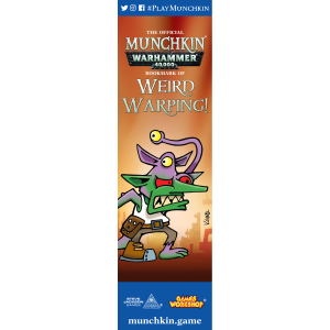 The Official Munchkin Warhammer 40,000 Bookmark of Weird Warping! cover
