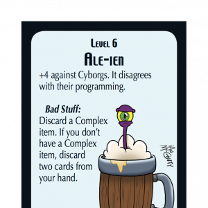 Ale-ien Star Munchkin Promo Card cover