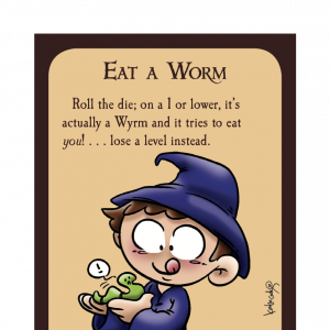 Eat a Worm Munchkin Spell Skool Promo Card cover