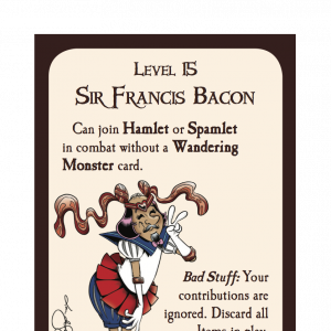 Sir Francis Bacon Munchkin Shakespeare Deluxe Promo Card cover
