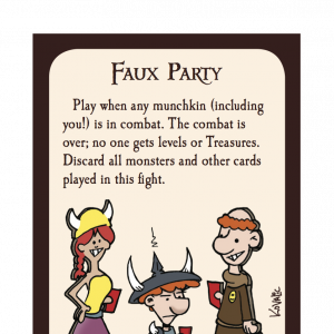 Faux Party Munchkin Promo Card cover
