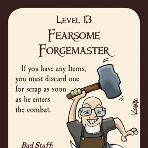 Fearsome Forgemaster Munchkin Promo Card cover