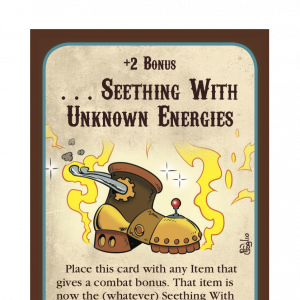 . . . Seething With Unknown Energies Munchkin Steampunk Promo Card cover