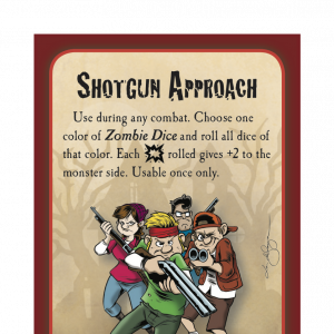 Shotgun Approach Munchkin Zombies Promo Card cover