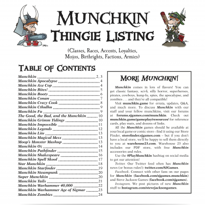 Munchkin Thingies Updated cover